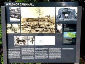 information board on the site of Carinhall, the former palace of National Socialist Hermann Göring