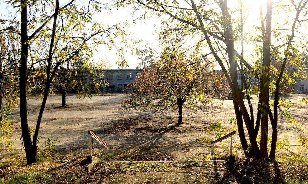Friedensstadt Glau: der Appellplatz der sowjetischen Garnison