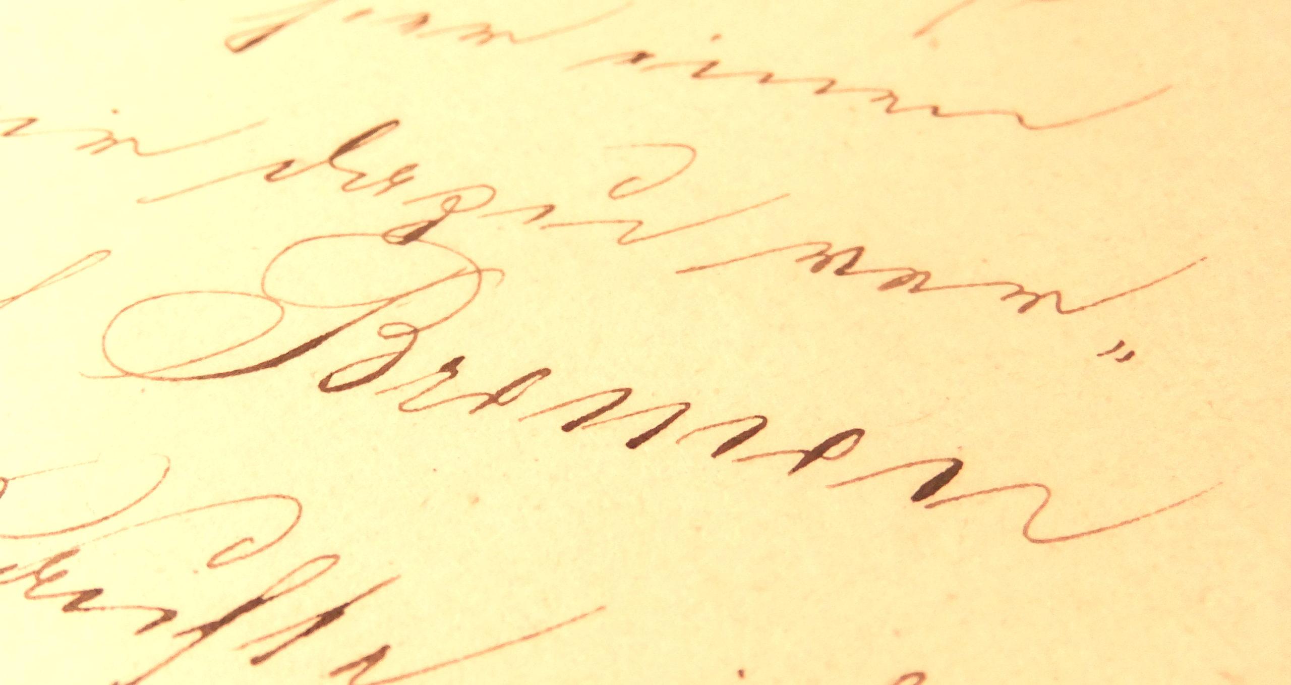 August Wilhelm Gildemeister: Tagebuch, Bremen-Schriftzug