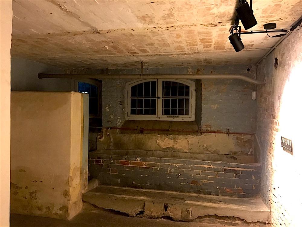 SA-Gefängnis Papestraße: ehemaliger Waschraum