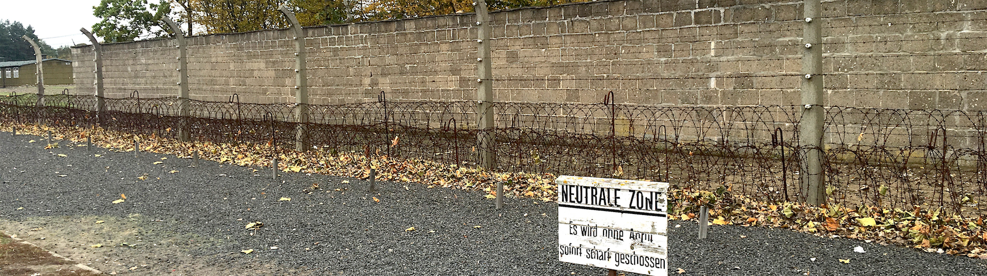 Sachsenhausen concentration camp: reconstructed fence