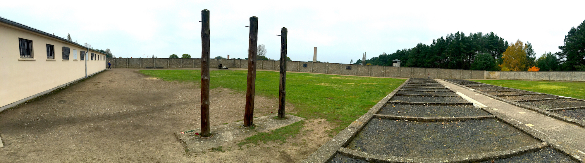 Sachsenhausen concentration camp: torture posts