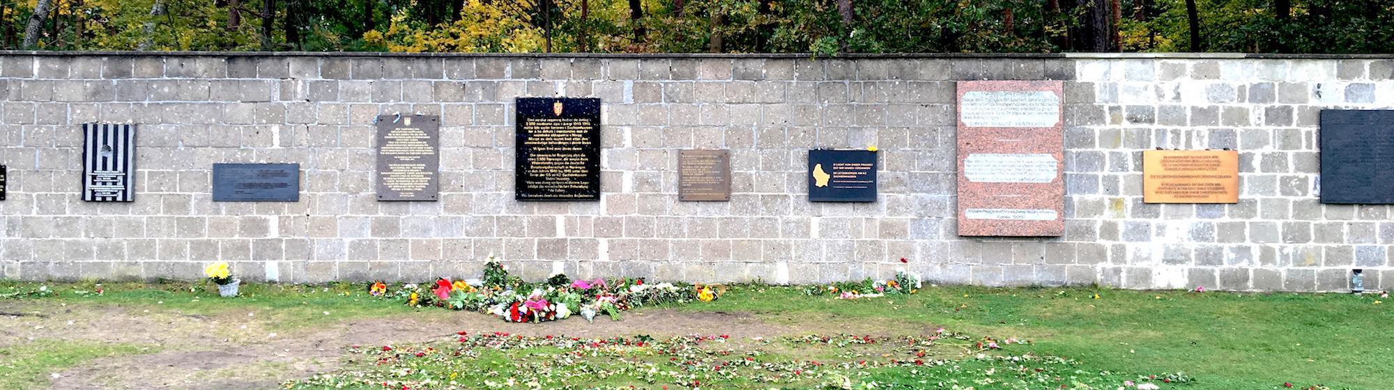 Sachsenhausen concentration camp: memorial wall