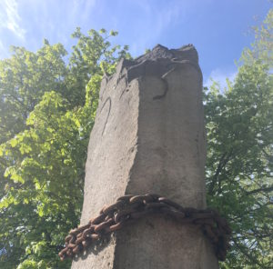 the Column of the Prisoners at the former concentration camp Berlin-Lichterfelde